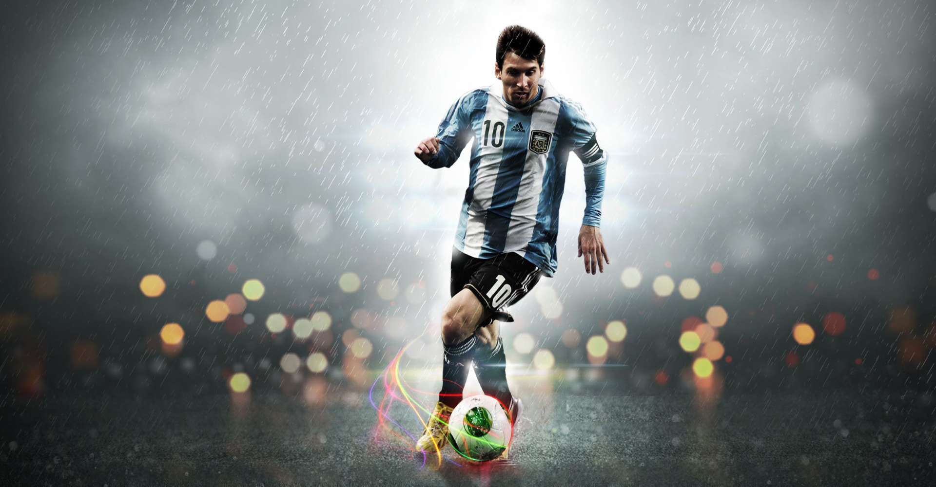 Dribbling Argentina Forward is Lionel Messi 10