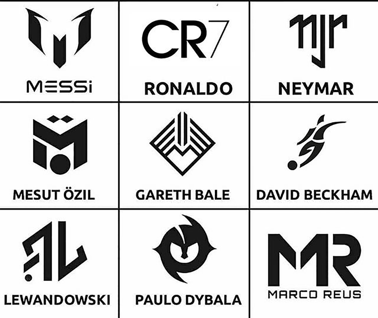 Superstar Soccer Players Of Today Have Their Own Logos