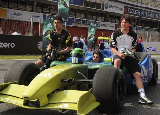 Lionel Messi and David Villa Formula Car adidas F50 adizero